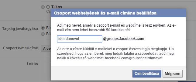 hogyan állítsam be a Facebook csoport url címét